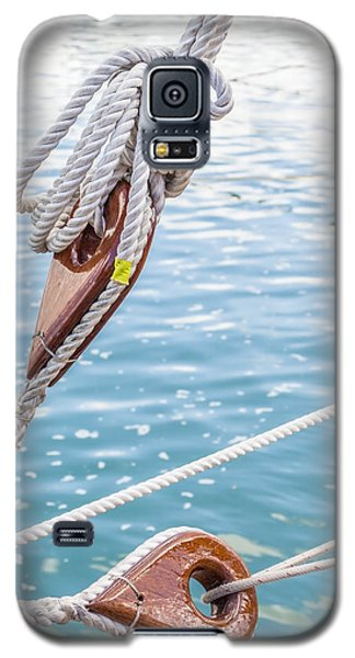 Sailboat Deadeyes 1 Galaxy S5 Case by Leigh Anne Meeks