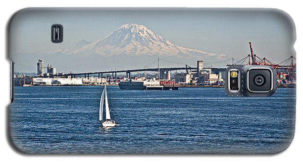 Sailboat Foreground Mt Rainier Washington Landscape Galaxy S5 Case