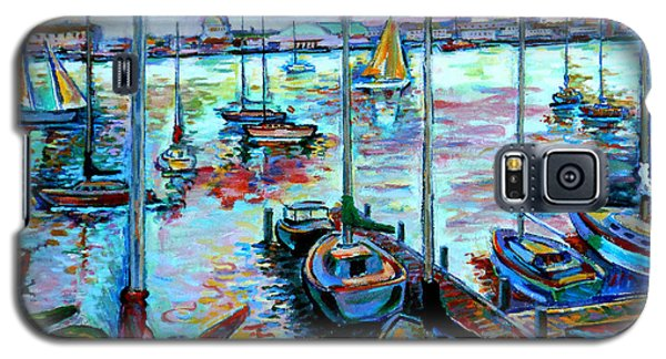 Sailboat Harbor Galaxy S5 Case by Stan Esson
