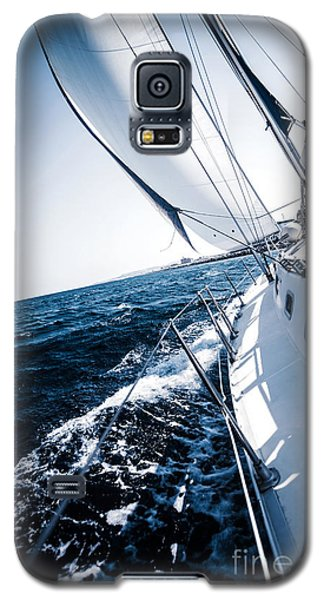 Sailboat In Action Galaxy S5 Case