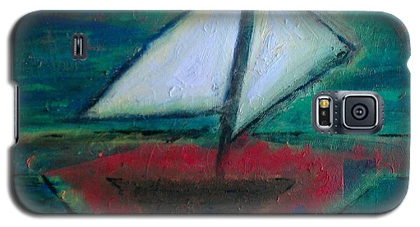Galaxy S5 Case featuring the painting Sailboat by Jacqueline McReynolds