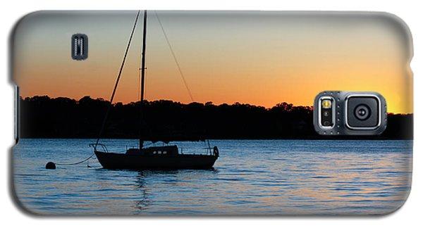 Sailboat Moored At Sunset Galaxy S5 Case