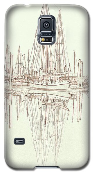 Galaxy S5 Case featuring the photograph Sailboat On Liberty Bay by Greg Reed