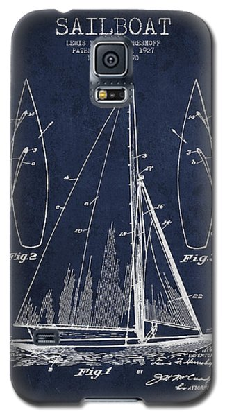 Transportation Galaxy S5 Case - Sailboat Patent Drawing From 1927 by Aged Pixel