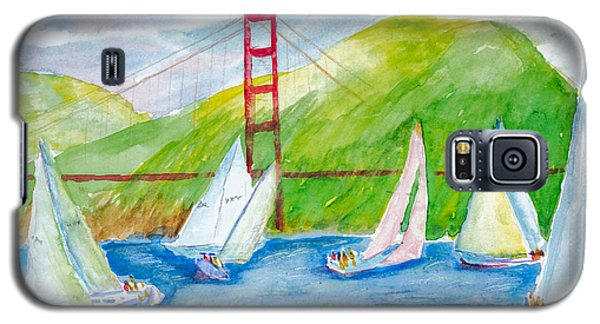 Sailboat Race At The Golden Gate Galaxy S5 Case