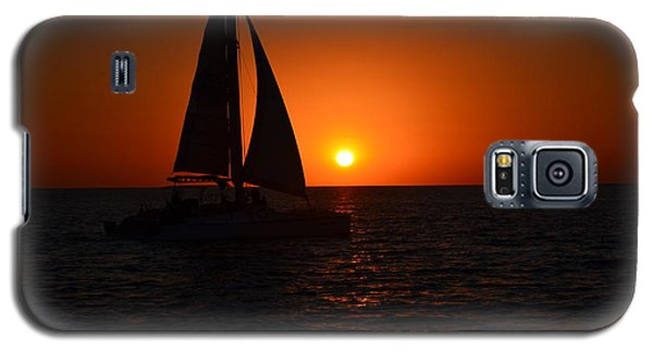 Sailboat Sunset Galaxy S5 Case by James Petersen