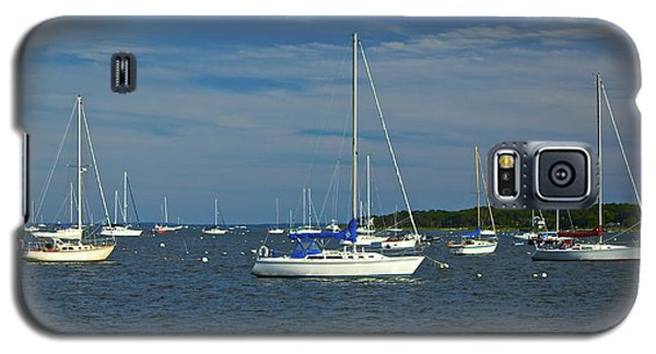 Galaxy S5 Case featuring the photograph Sailboats by Amazing Jules
