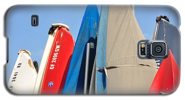 Galaxy S5 Case featuring the photograph Sailboats At Rest by Vinnie Oakes