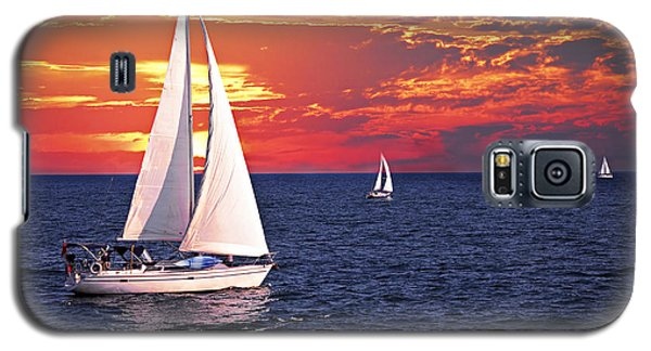 Sailboats At Sunset Galaxy S5 Case