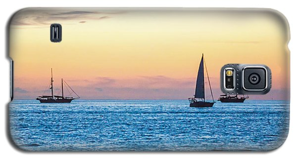 Sailboats At Sunset Off Key West Florida Galaxy S5 Case