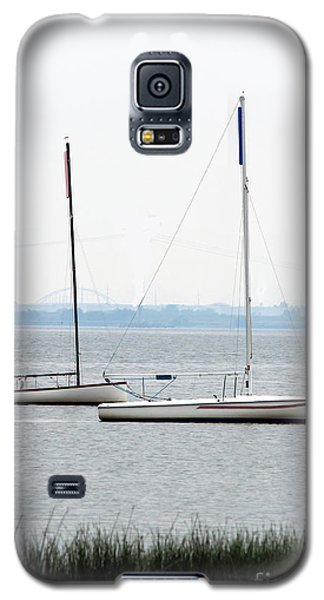 Sailboats In Battery Park Harbor Galaxy S5 Case