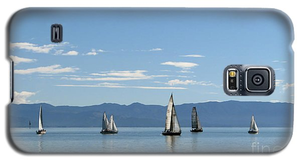 Sailboats In Blue Galaxy S5 Case