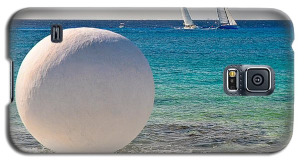 Sailboats Racing In Cozumel Galaxy S5 Case by Mitchell R Grosky
