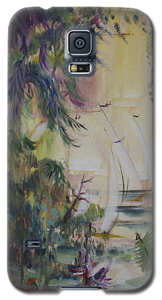 Sailboats Through The Trees Galaxy S5 Case by Avonelle Kelsey
