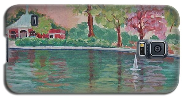 Sailin' Away In Central Park Galaxy S5 Case