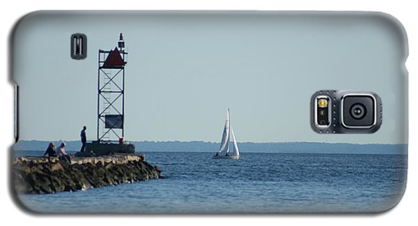 Sailing At Southport Harbor Galaxy S5 Case by Margie Avellino