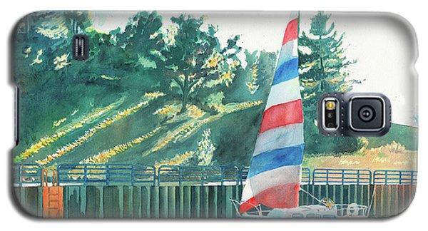 Sailing Back To Port, Sail Boat Paintings, Sail Boat Prints, Sailing, Pentwater, Michigan, Lakes Galaxy S5 Case