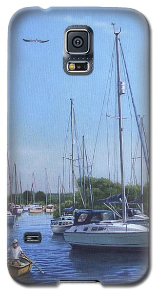 Sailing Boats At Christchurch Harbour Galaxy S5 Case
