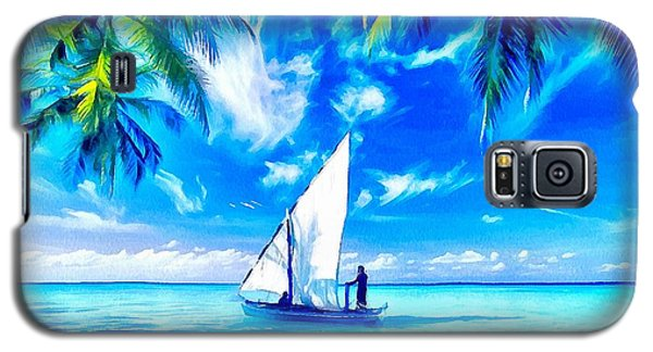 Galaxy S5 Case featuring the painting Sailing by Catherine Lott