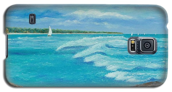 Sailing In The Bay Galaxy S5 Case by Susan DeLain