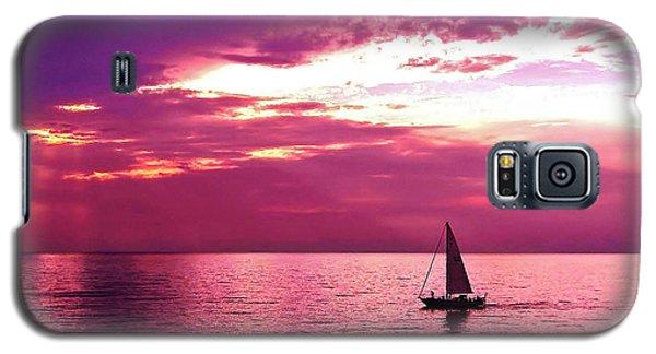 Sailing Into The Setting Sun Galaxy S5 Case
