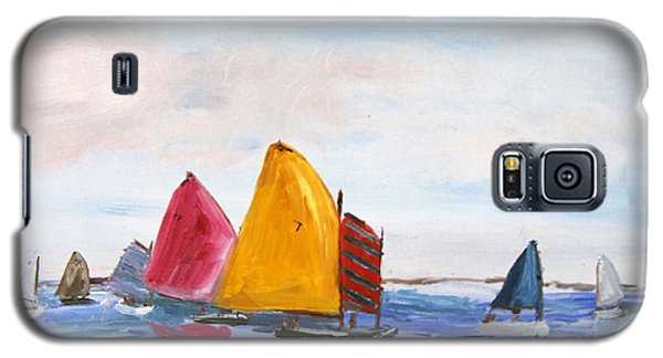 Galaxy S5 Case featuring the painting Sailing Nantucket Sound by Michael Helfen