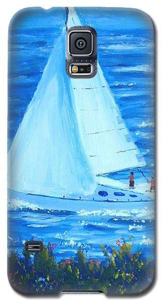 Sailing Off The Coast Galaxy S5 Case