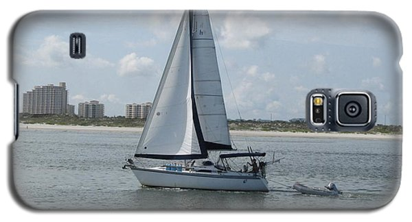Galaxy S5 Case featuring the digital art Sailing Ponce Inlet Florida by Brian Johnson