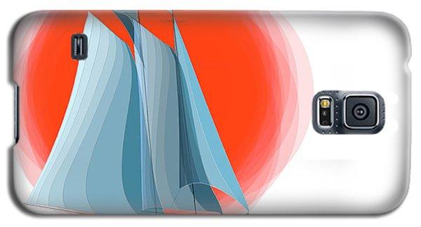 Sailing Red Sun Galaxy S5 Case