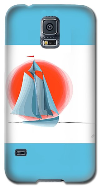 Sailing Red Sun Galaxy S5 Case