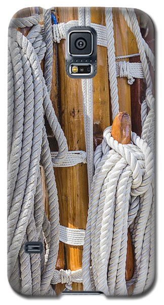 Sailing Rope 4 Galaxy S5 Case by Leigh Anne Meeks