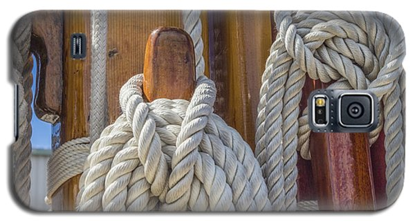 Galaxy S5 Case featuring the photograph Sailing Rope 5 by Leigh Anne Meeks