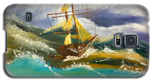 Sailing Ship In A Storm Galaxy S5 Case