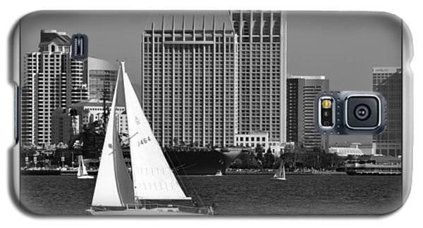 Galaxy S5 Case featuring the digital art Sailing To Work by Kirt Tisdale