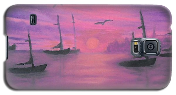 Galaxy S5 Case featuring the painting Sails At Dusk by Holly Martinson