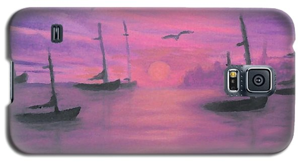 Sails At Dusk Galaxy S5 Case by Holly Martinson