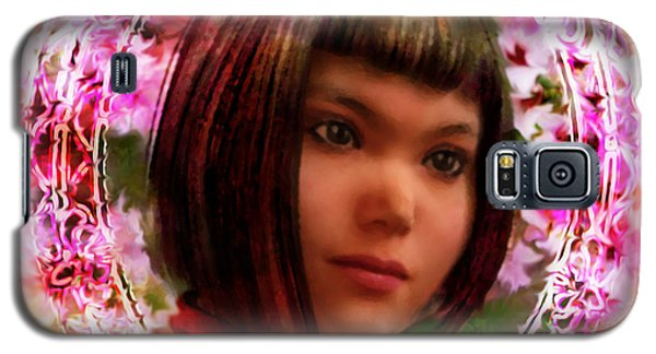 Galaxy S5 Case featuring the painting Saint Agatha Lin Zhao From China by Suzanne Silvir