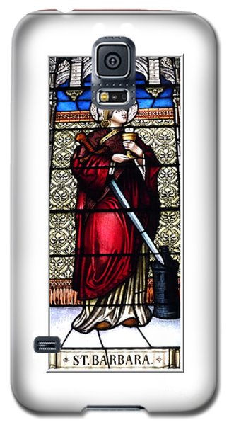 Saint Barbara Stained Glass Window Galaxy S5 Case