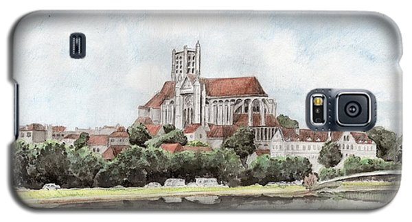 Galaxy S5 Case featuring the painting Saint-etienne A Auxerre by Marc Philippe Joly