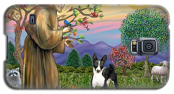 Saint Francis Blesses A Black And White Basenji Galaxy S5 Case