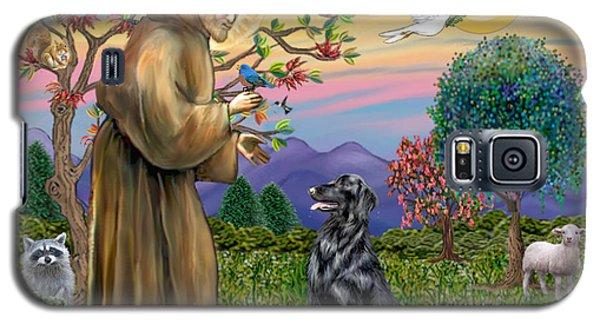 Saint Francis Blesses A Flat Coated Retriever Galaxy S5 Case