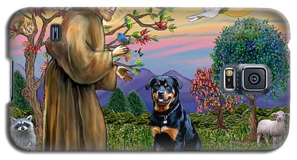 Saint Francis Blesses A Rottweiler Galaxy S5 Case