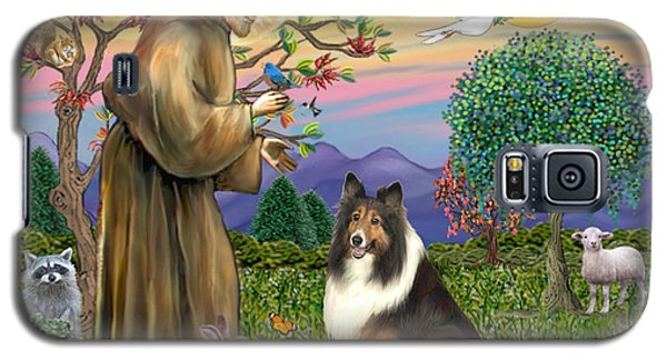 Saint Francis Blesses A Sable And White Collie Galaxy S5 Case