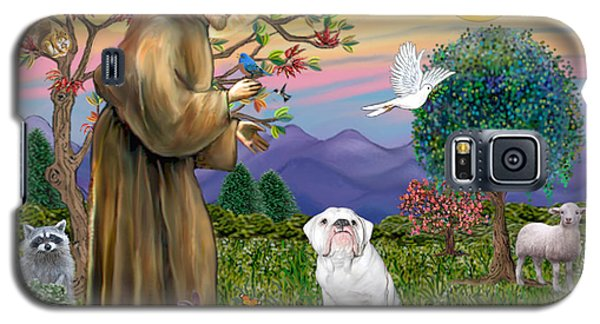 Saint Francis Blesses An English Bulldog Galaxy S5 Case