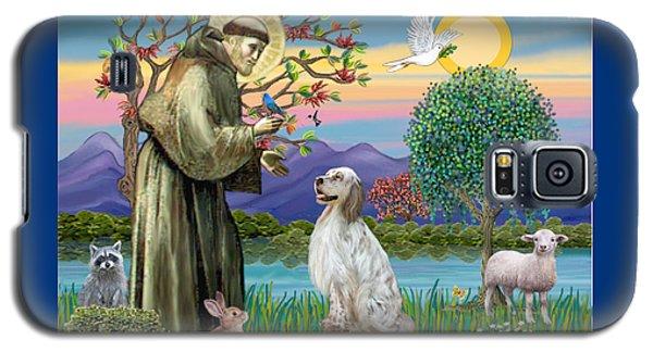 Saint Francis Blesses An English Setter Galaxy S5 Case