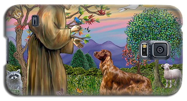 Saint Francis Blesses An Irish Setter Galaxy S5 Case