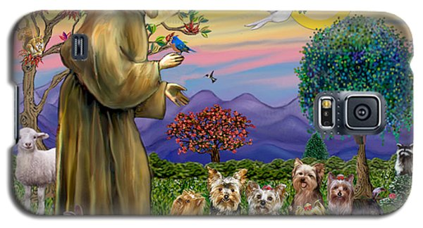 Saint Francis Blesses Seven Yorkies Galaxy S5 Case