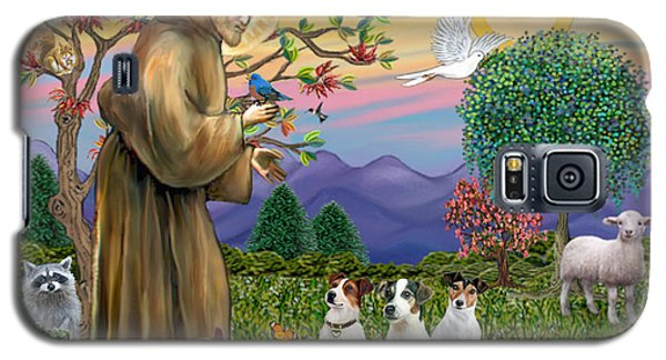 Saint Francis Blesses Three Jack Russell Terriers Galaxy S5 Case