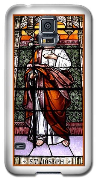 Saint Joseph  Stained Glass Window Galaxy S5 Case