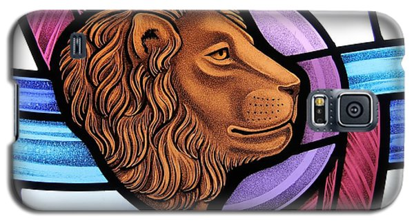 Saint Mark Lion Galaxy S5 Case by Gilroy Stained Glass